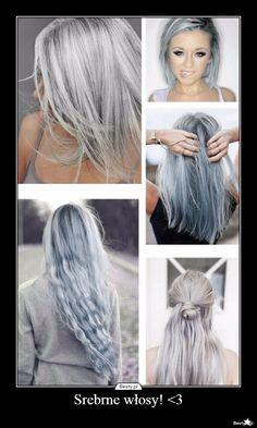 - Srebrne włosy! <3 -