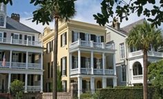 Charleston, SC and all of its beautiful antibellum homes on Battery Street.