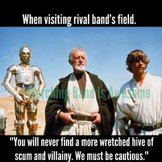 When visiting a rival band's field...