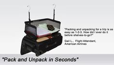 Shelves-To-Go Luggage Organizer System by Corporate Travel Safety - Packing Aids - CorporateTravelSafety.com
