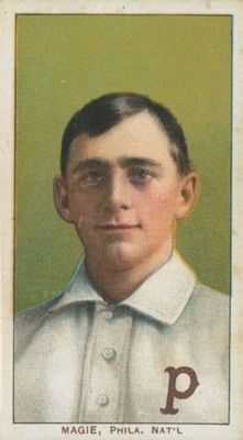1909-11 T206 White Borders Baseball Sherry Magee