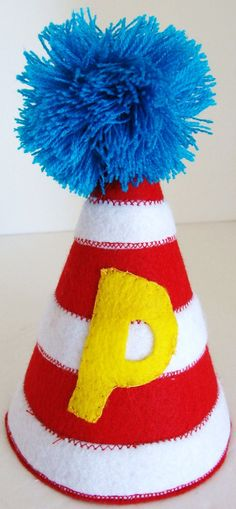 Dr Seuss Cat in the Hat Birthday Hat with by LilTurnipDesigns, $25.00