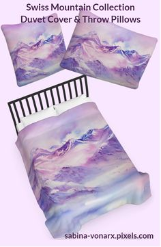 Swiss Mountains early morning Duvet Cover for Sale by Sabina Von Arx Winter Images, Queen Duvet, Season Colors, Basic Colors, Early Morning, Friends In Love, Wonderful Images, Color Show, Pretty In Pink
