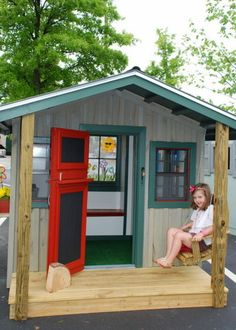 Playhouse I love the door handle. | BACKYARD FUN | Pinterest | Playhouses Door handles and Gardens & Playhouse I love the door handle. | BACKYARD FUN | Pinterest ...