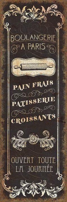 Parisian Signs Panel - I cartel boulangerie postal paris Posters Vintage, Vintage Labels, Vintage Signs, Vintage Images, Vintage Prints, Vintage Bookmarks, Art Posters, Vintage Ephemera, French Signs