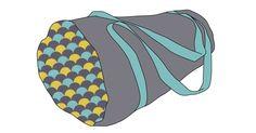 MATÉRIAUX: 80cm de tissu (natté, matelassé, lin,..) 30cm de tissu contrastant (natté uni) 1 zip de 60cm 2.70m de sangle entre 2 et 4cm de large. Couper un rectangle de 63cm de large sur 71 cm de ha…