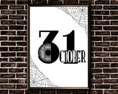 Items similar to October 31 Printable Halloween Decorations, Halloween Wall Decor, Halloween Printable, Halloween Poster, Halloween Prints, October 31 Halloween, Printable Wall Art, Printables, Letters