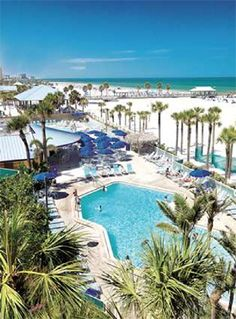 Clearwater Beach, FL -Hilton Clearwater beach resort!! Can't wait To go next year