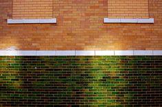Green glazed brick by eschlabach, via Flickr