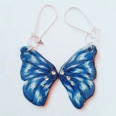 #butterfly #wings  #earring for the  butterfly cane search on youtube 80Pulcione  for the tutorial of the cane