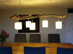Ceiling light with 6 lights manufactured from by GBHNatureArt