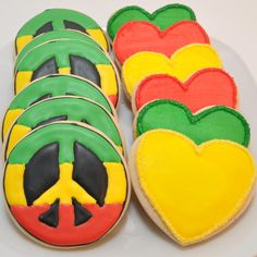 Cookies for a reggae party Bob Marley Birthday, Twin First Birthday, Dad Birthday, First Birthday Parties, First Birthdays, Bob Marley Cakes, Rasta Wedding, Rasta Party, Jamaican Party