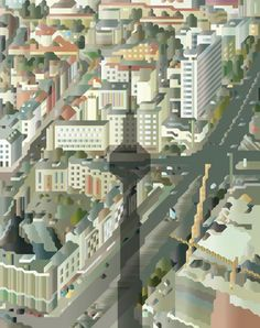 Illustration of Berlin Mitte from the Fernsehturm for 74th issue of Eye Magazine