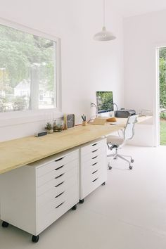 Long Floating Desk