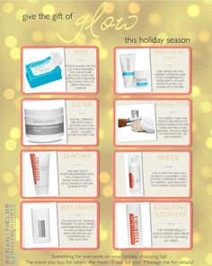 Gift the gift of glow to anyone! They will thank you over and over and over again! Skin it's a beautiful thing...wear it well! https://www.schadwell.myrandf.com