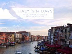 14-Day Italy and France Itinerary, Rome, Venice, Florence and Cinque Terre - traveling by train (save $$) Includes some travel tips in here too.  Must reference when planning my next trip!