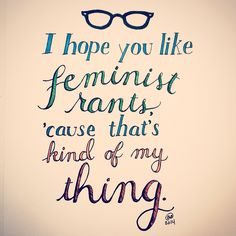 100 days of typography, day 91. Jess from New Girl #quote. #art #design #typography #lettering #illustration #feminism