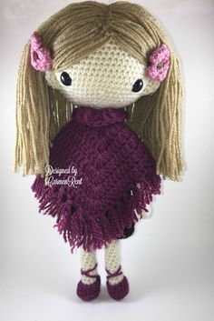Lydia Amigurumi Doll Crochet Pattern PDF by CarmenRent on Etsy