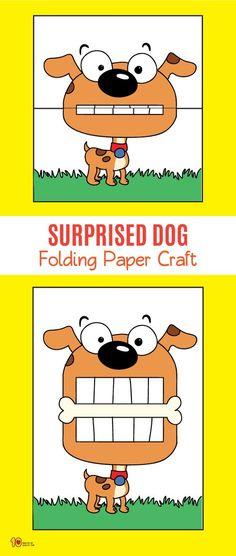 Surprised Dog Folding Paper Craft