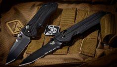 Benchmade 904 & 909SBK AXIS Stryker knives.