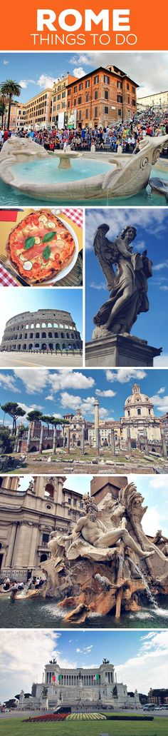 Sightseeing tips and things to do in Rome, Italy: Colosseum | Pantheon | Roman Forum | Piazza Navona | Spanish Steps | Trevi Fountain | Altare della Patria | Vatican City | More on my blog: How To Travel Italy By Train - A First Timer's Guide incl. Things To Do And Places To Stay (just click on the image) via @JustOneWayTicket | Travel Blog | Interrail Eurail Europe Train Travel