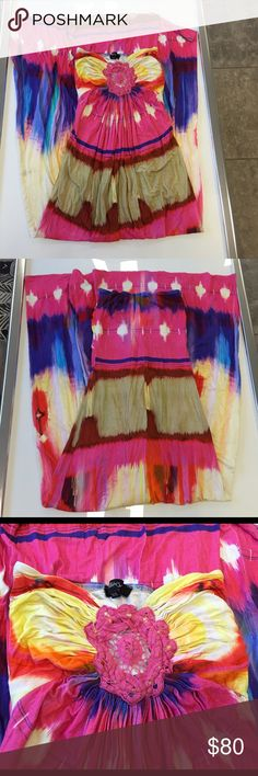 Sky pink multicolor strapless maxi dress size xs Sky pink multicolor strapless maxi dress size xs ..pre-loved and only used about 2 to 3 times in great condition Sky Dresses Maxi