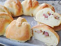 Corona danubio di pan brioche salata farcita sofficissima   Arte in Cucina