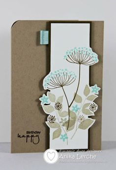 10/13/2012; Anni Cards blog; Summer Silhouettes stamp set; Pool Party (or Aquamarine) and Soft Suede inks