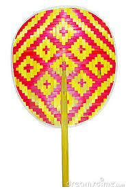 Image result for vintage indian hand fans.The bamboo Tribal Art fan.