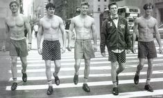 Nick Clark, Chris Carmack and Ian Bradner by Bruce Weber for Abercrombie & Fitch (Fall 2000) #ChrisCarmack #BruceWeber #IanBradner #malemodel #model #actor #af #anf #abercrombie #abercrombieandfitch #bw #nyc #pedestriancrossing