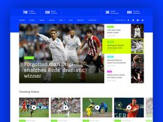 Sports News designed by Paresh Khatri. Connect with them on Dribbble; Sports Sites, Cbs Sports, Sports News, Blog Website Design, Ui Website, Website Ideas, News Web Design, Ui Design, Sports Website