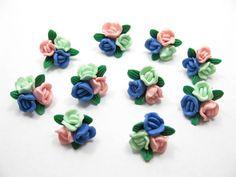 fimo flower bead G by ThirdEarDear on Etsy, $1.40