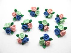 fimo flower bead G by ThirdEarDear on Etsy, $1.40