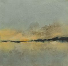 Haven II  Monotype with encaustic on panel  www.elizabethmallia.com  #art #paintings #tranquil #serene