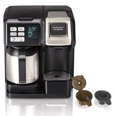 Hamilton Beach FlexBrew Coffee Maker with Thermal Carafe, Single Serve & Full Coffee Pot, Compatible with Single-Serve Pods or Ground Coffee, Programmable, Stainless Steel Dual Coffee Maker, Thermal Coffee Maker, Coffee Maker Reviews, Pod Coffee Makers, Coffee Lovers, Coffee Pods, Cappuccino Maker, Espresso Maker, Espresso Machine