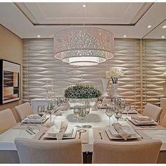 Style for dinning room Elegant Home Decor, Elegant Homes, Sala Grande, Dinner Room, Beautiful Dining Rooms, House Beautiful, Elegant Dining Room, Dining Room Design, Ceiling Design Living Room