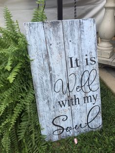 Handmade handpainted distressed wood sign It Is by MtnMetalWorks