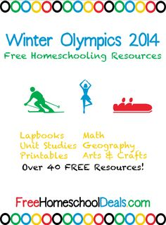 Winter Olympics 2014 Free Homeschooling Resources  (unit studies, printables, educational apps, crafts, and more!)
