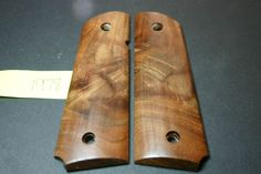 Figured Curly Walnut Magwell DIY FULL SIZE 1911 GRIPS COLT/Clones Wood .45 8rd #206Grips