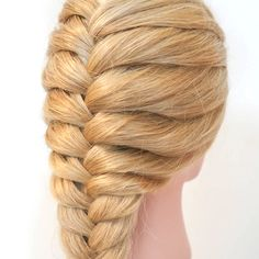 Easy Hairstyles For Long Hair, Braids For Long Hair, Up Hairstyles, Cool Girl Hairstyles, French Braided Hairstyles, Curly Hair, Step By Step Hairstyles, Everyday Hairstyles, Short Hair
