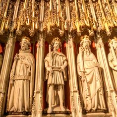 Statues of medieval English Kings, York Minster choir screen