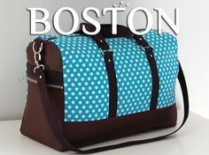 Boston is a weekender bag pattern with with a unisex silhouette. It is therefore easily adaptable to woman, man, classic-chic or girly versions.