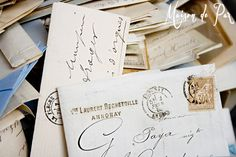 Photograph of Antique French Letters by MaisonDePax on Etsy