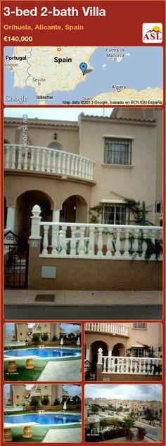 3-bed 2-bath Villa in Orihuela, Alicante, Spain ►€140,000 #PropertyForSaleInSpain