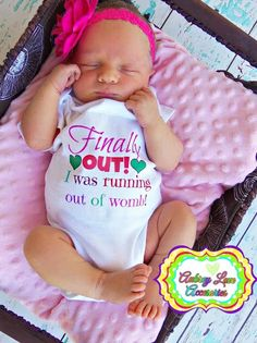 Baby Girl Shower Gift Birth Announcement Photography Prop Newborn Girl  One Piece Outfit Bodysuit on Etsy, $12.00