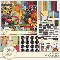 Digital scrapbooking kit - Alexis Design Studio A CLASS ACT in Attic Treasures at The Digi Chick http://www.thedigichick.com/shop/A-Class-Act-Collection.html