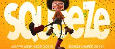 Squeeze Studio Animation Projects - Happy New Year 2014 3d Character Animation, Happy New Year 2014, Feature Film, Disney Characters, Fictional Characters, Events, Studio, Image, Projects