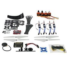 Qwinout DIY RC Drone Quadrocopter X4M360L Rahmen Kit:GPS   APM 2.8 Flight Control   Brushless Motor   Brushless ESC   GPS Folding Antenna Mount Holder ** Check out the image by visiting the link.