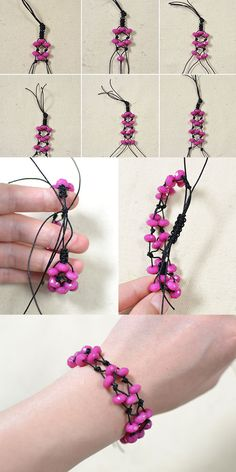 Tutorial for adjustable rose bracelet from LC.Pandahll.com