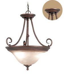 Woodbridge Lighting Hudson Glen 3-light Marbled Bronze Pendant/Semi Flush Mount